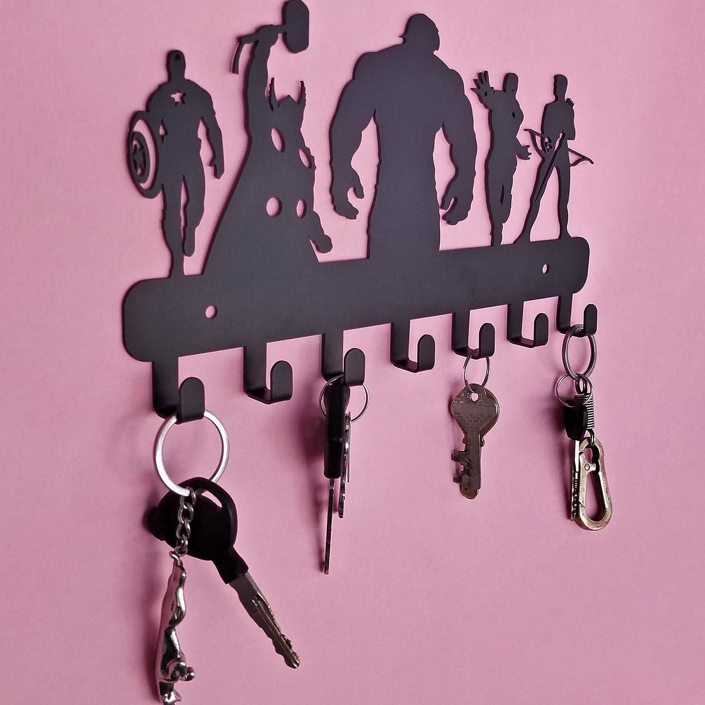 Metall Key Haken HeavenlyKraft Avengers Wand montiert Metall Schl/üsselhalter Organizer 26,9/x 19,1/x 2/cm