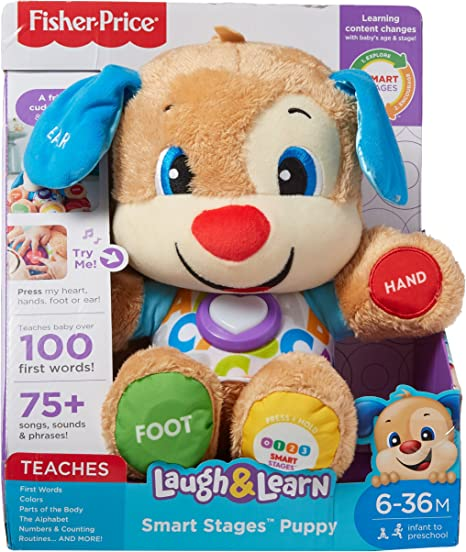 Teaches Words Smart Stages Puppy Laugh and Learn Fisher-Price