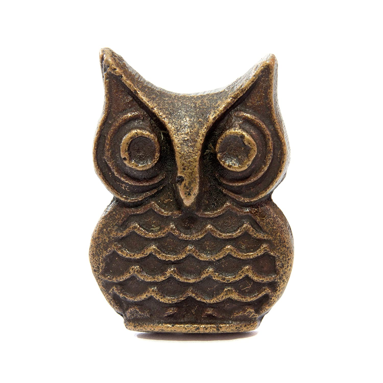 LOVELY Metal OWL Door Knobs / Drawer Pulls from INDIA. SET of 4. (MO02) Icarus