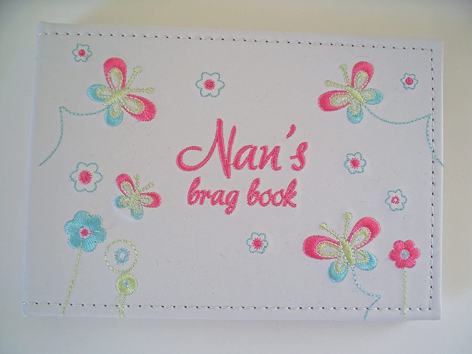NAN'S BRAG book photo album embroidered flowers butterflies ideal gift JULIANA