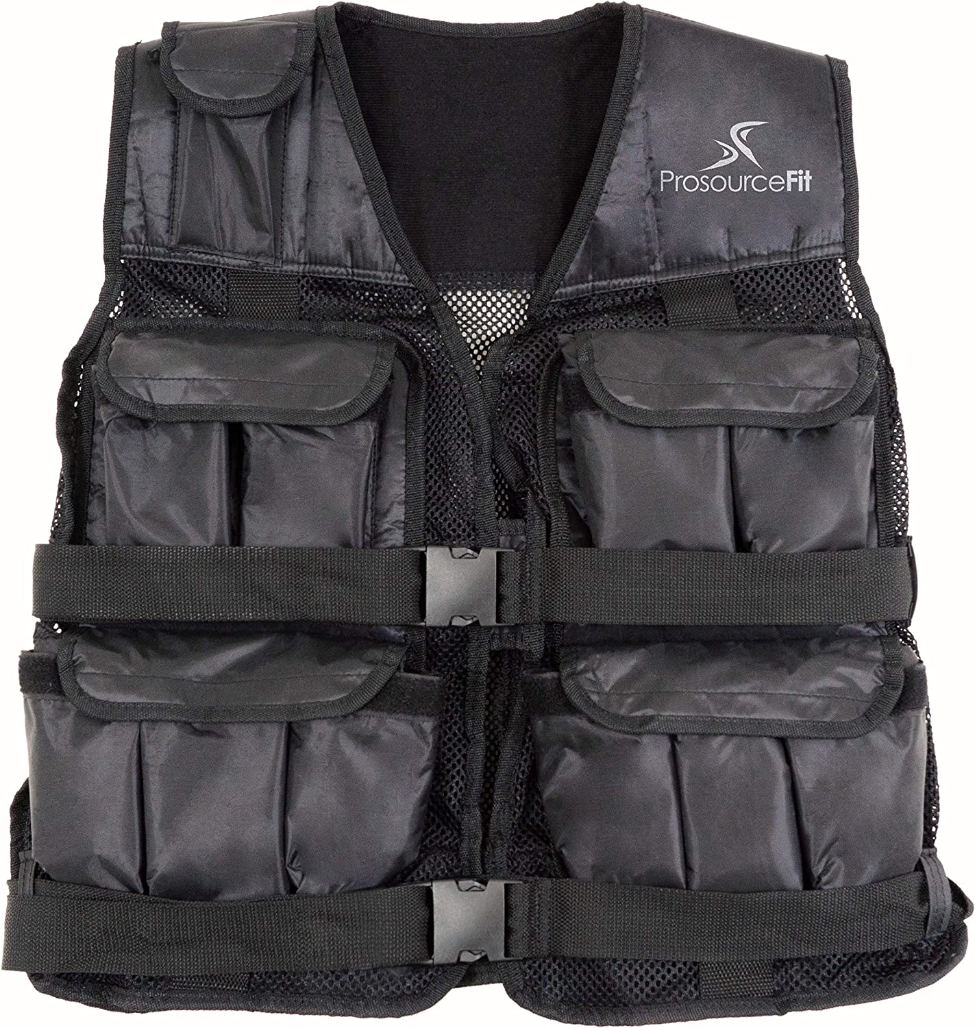Prosource Fit 20lb Weighted Unisex Workout Vest Training Fitness 20 pounds lb Adjustable Weight