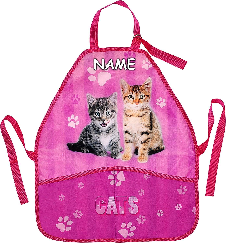 Katze inkl Katzenbabys Name universal // beschichtet /& wasserdicht gr/ö/ßenverstellbar mit 2 Taschen f/ür M/äd.. alles-meine.de GmbH Kindersch/ürze // Sch/ürze mitwachsend