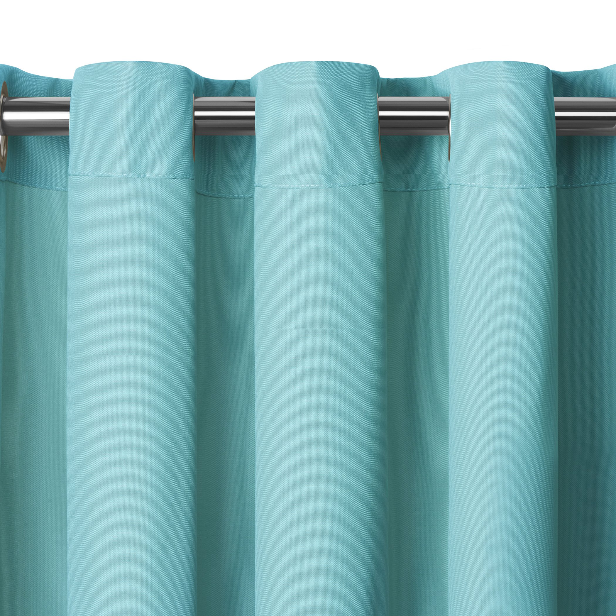 Elrene Home Fashions Connor Indoor/Outdoor Solid Grommet Panel Window Curtain 52'' x 108'' (1), Turquoise by Elrene (Image #8)