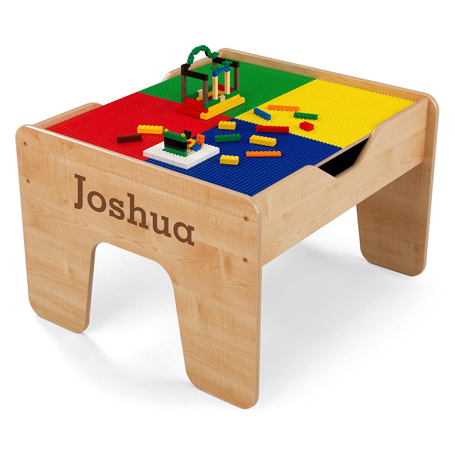 Amazon.com: KidKraft Personalized 2-in-1 Activity Table with Brown ...