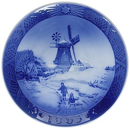 1963 royal copenhagen christmas plate hojsager windmill - Royal Copenhagen Christmas Plates