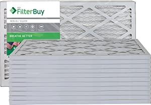 FilterBuy 13x21.5x1 MERV 8 Pleated AC Furnace Air Filter, (Pack of 12 Filters), 13x21.5x1 – Silver