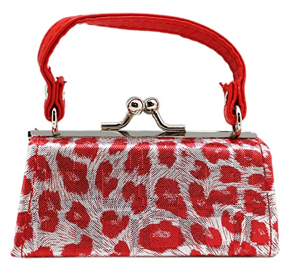226ceea7a9d Leopard Spotted Textured Mini Cocktail Bag Coin Purse: Red at Amazon ...