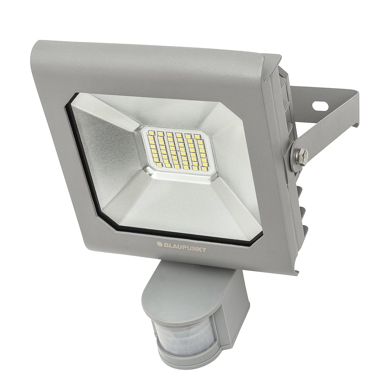 BLAUPUNKT Focos led exterior con sensor de movimiento Series Diamante Foco LED 30W 6500K Blanco Frío Profesional - Ultra Durable Impermeable - Exterior Luz ...