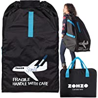 Zohzo Car Seat Travel Bag - Drawstring Bag for Air Travel (Black)