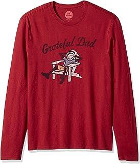 64177e7d Life is Good Men's Long Sleeve Smooth Tee Grateful Dad Adir Crared T-Shirt,