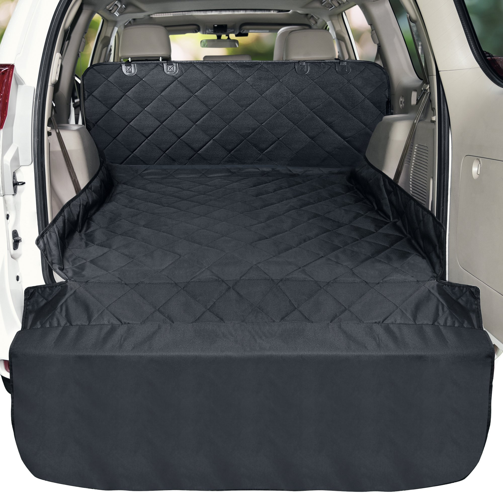 Veckle Cargo Liner, Waterproof Dog Seat Cover SUV Cargo Cover for Dog Nonslip Mat Scratchproof Cargo Protector for SUVs Sedans Vans