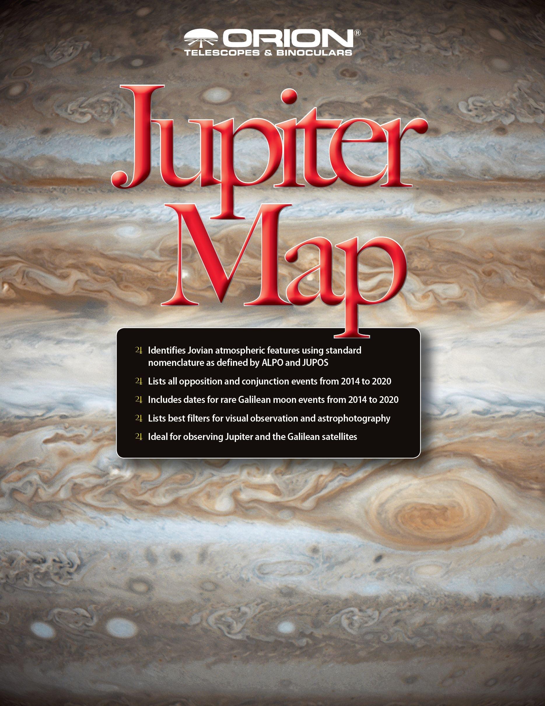 Orion 51926 Jupiter Map and Observing Guide (Black)