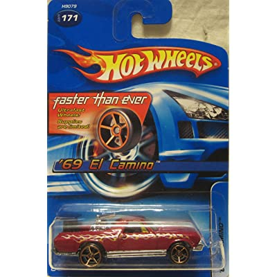 Hot Wheels 2005-171 '69 El Camino MAROON Faster Than Ever 1:64 Scale: Toys & Games
