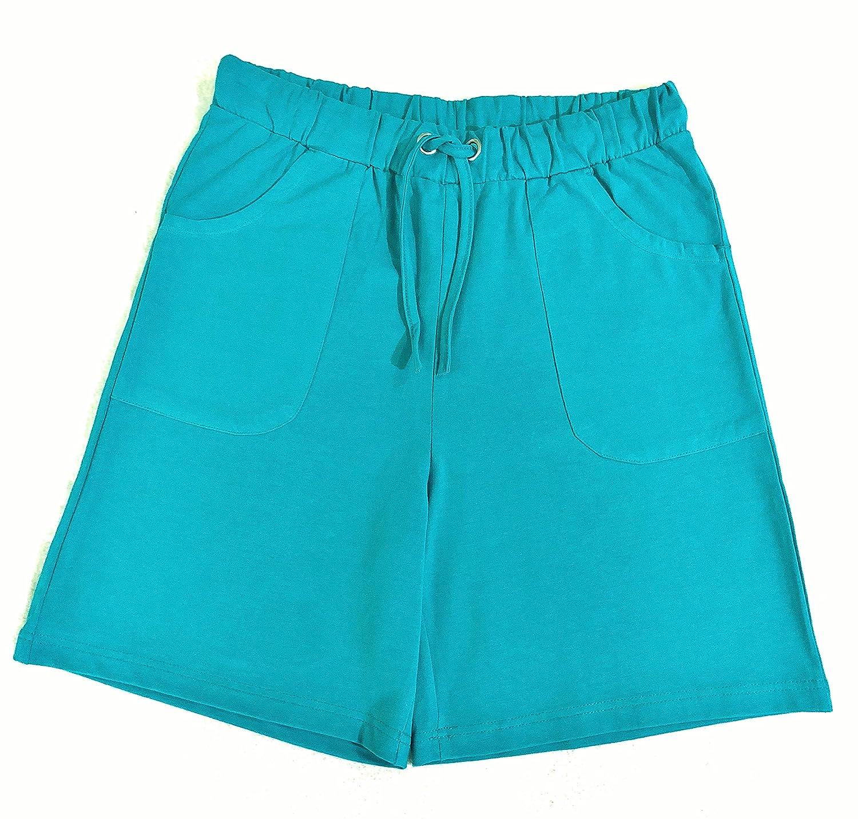 Trufit Pantaloncini da Donna in Cotone Lavorato a Maglia