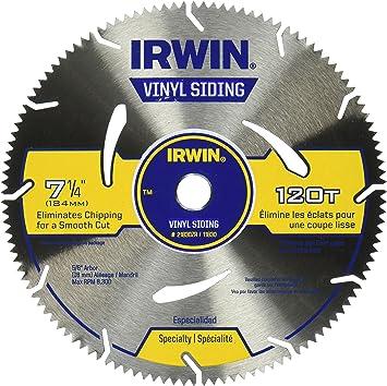 Irwin Tools Marathon Vinyl Siding Circular Saw Blade 7 1 4 Inch 120t 21830zr Amazon Com