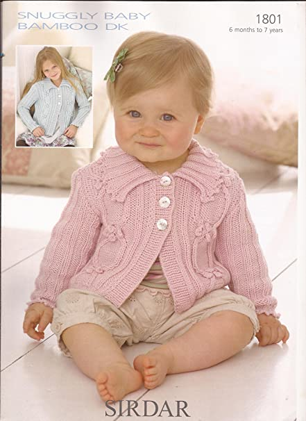 Sirdar Baby Bamboo Dk Knitting Pattern 1801 Amazon Baby