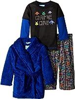 Baby Bunz Baby Boys' 3 Piece Game On Robe and Pajama Set