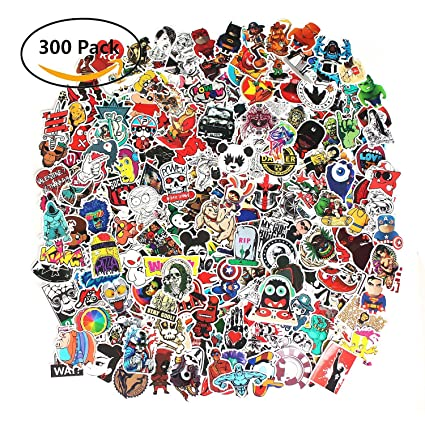 Future 300 pcs laptop waterproof stickers pack car stickers motorcycle bicycle luggage decal graffiti patches skateboard