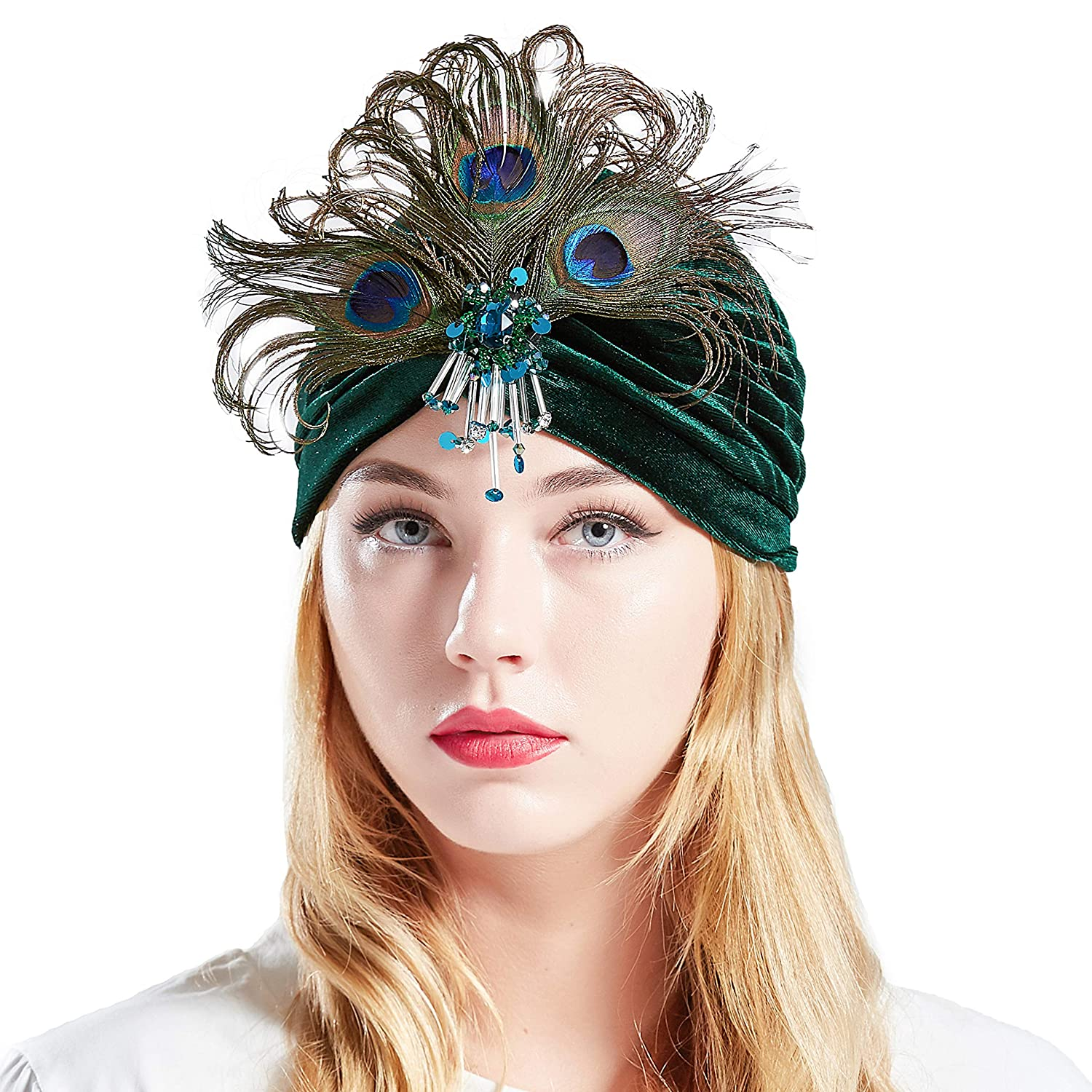 1920s Fashion & Clothing | Roaring 20s Attire BABEYOND Gatsby Turban Hat Vintage 1920s Head Wrap Knit Pleated Turban 20s Cap $15.99 AT vintagedancer.com