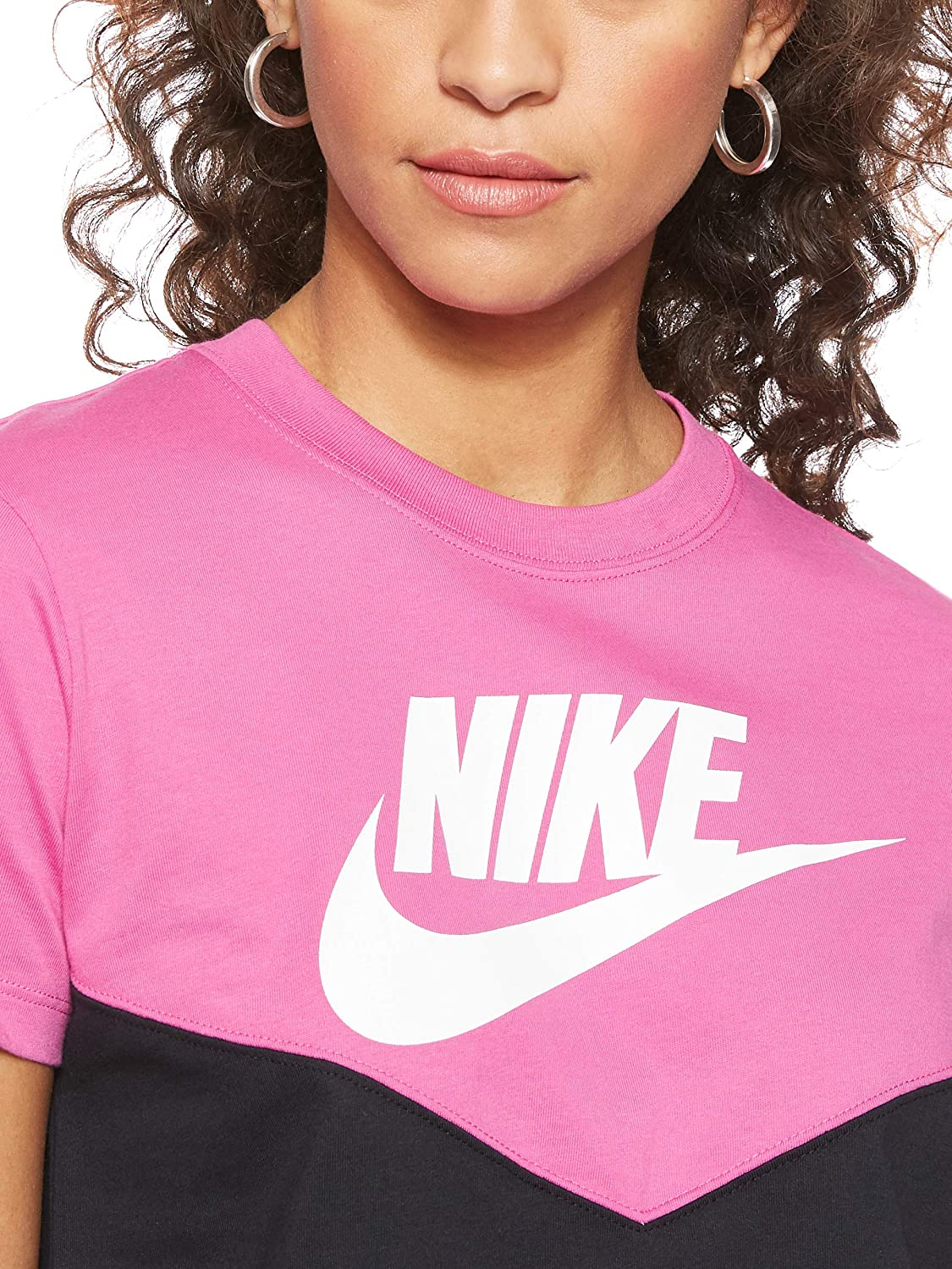 Nike Heritage Top Short Sleeve, Parte Superiore Donna