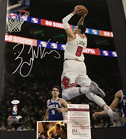 Image Unavailable. Image not available for. Color  Zach LaVine Chicago  Bulls Autographed Signed 16x20 JSA WITNESS COA efac779f2