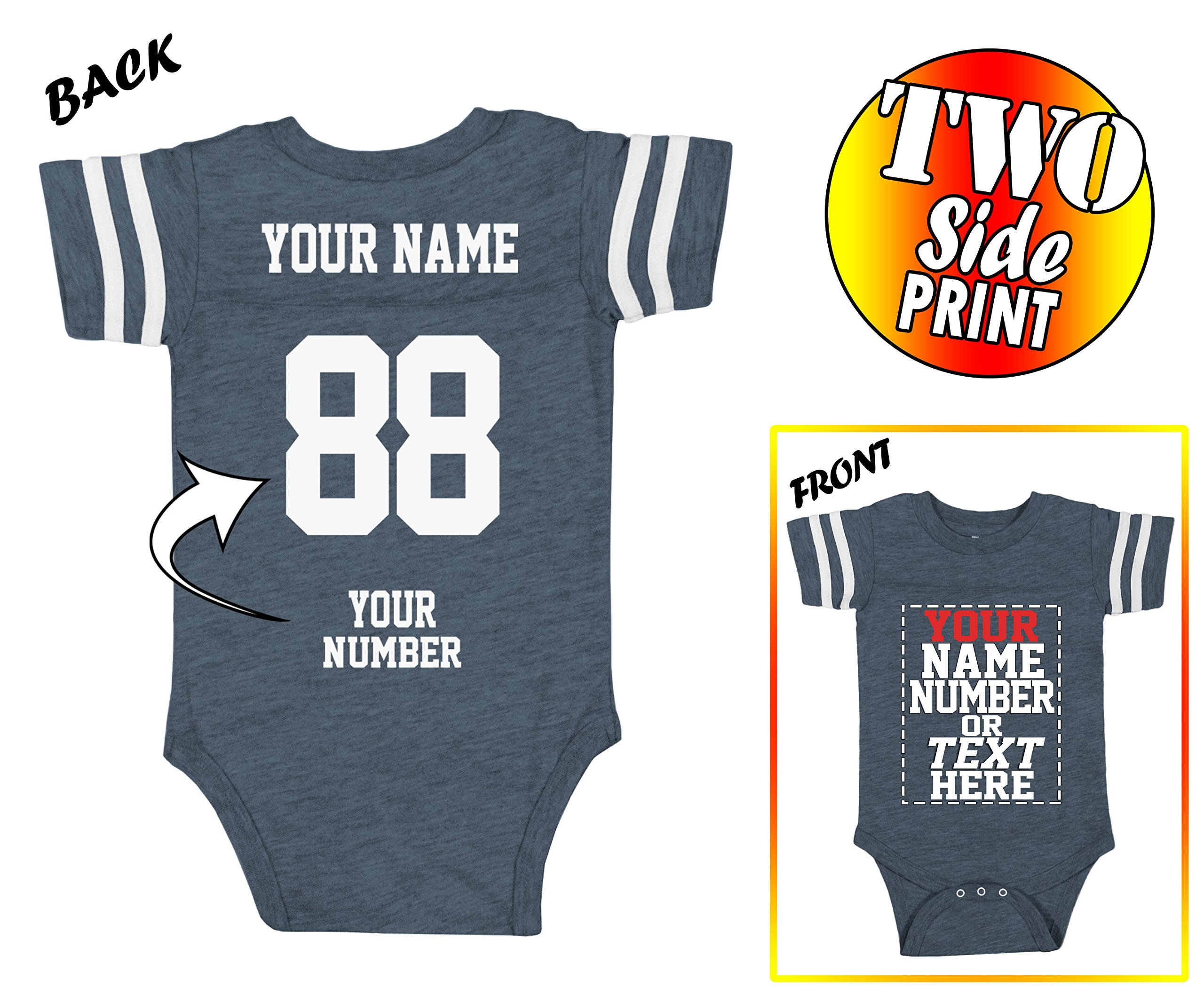 cc7f12a5f4b26 Galleon - Custom Jerseys For Babies - Make Your OWN Jersey Onesie ...