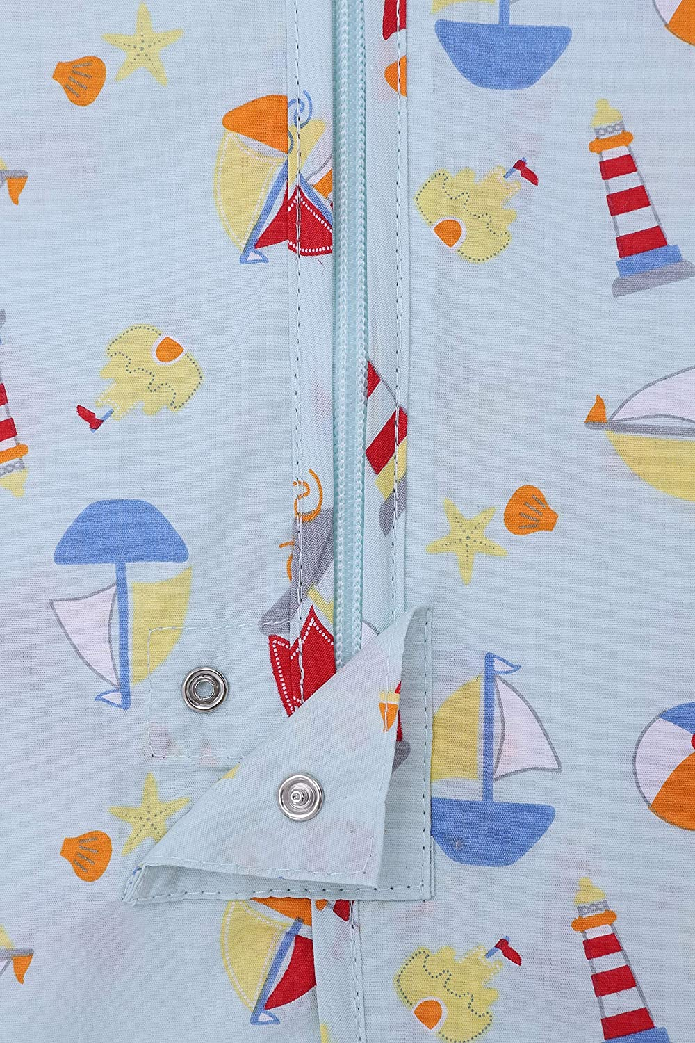 Snoozebag Baby Sleeping Bag Hot Weather Summer 0.5 Tog Beaches /& Boats Design 100/% Cotton Unisex Nursery Multi-Coloured Front Zip 3-6 Years