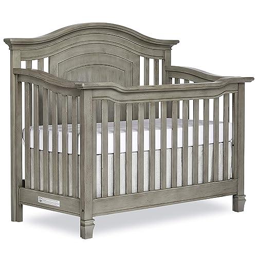 Evolur Fairbanks 5 In 1 Convertible Crib In Ash Grey