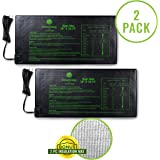 """Growerology Seedling Heat Mat (2 Pack: 10"""" x 20.75"""") for Seed Germination, Hydroponics and Plant Propagation - MET…"""