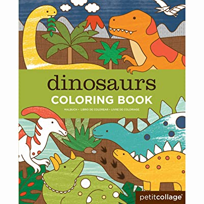 Petit Collage Coloring Book, Dinosaurs : Baby [5Bkhe1107100]