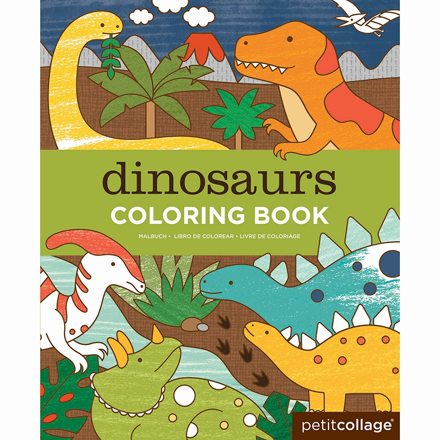 Amazon.com : Petit Collage Coloring Book, Dinosaurs : Baby