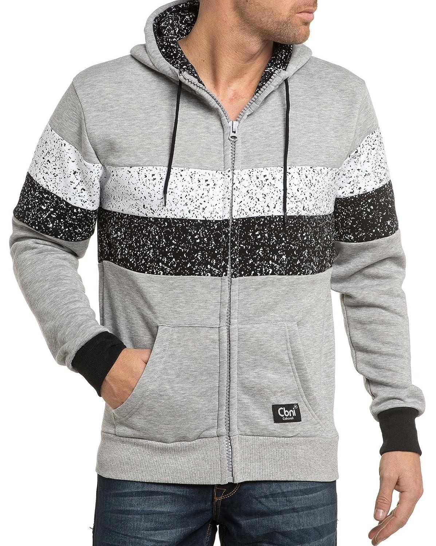 Cabaneli - Light gray hooded jacket
