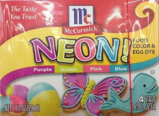 McCormick Neon Food Coloring & Egg Dye 1Oz Box Pack Of 3 ...
