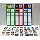 "DAILY PECS REAL PICTURE SCHEDULE W/ 3 CHARTS AND 45 COLORFUL ""REAL"" PICTURES FOR CHILDREN/ADULTS W/ AUTISM, SPEECH DELAYS"