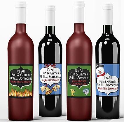 Amazon Com Fun Wine Labels It S All Fun Games Christmas
