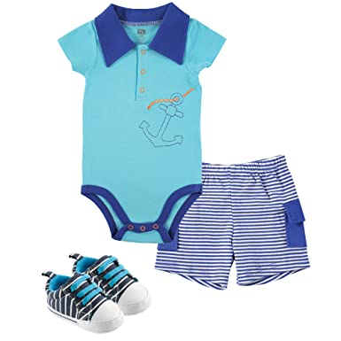 7b9823f6e Amazon.com  Hudson Baby Baby -Boys  3 Piece Bodysuit