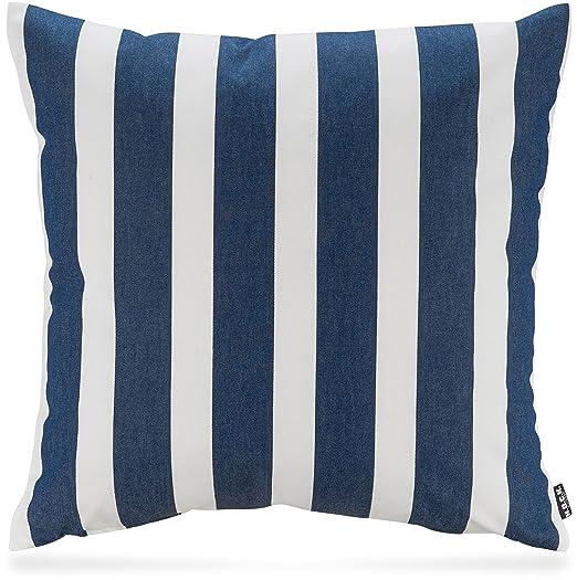 H.O.C.K. Rayas Outdoor - Cojín 50 x 50 cm Azul Marino Sun ...