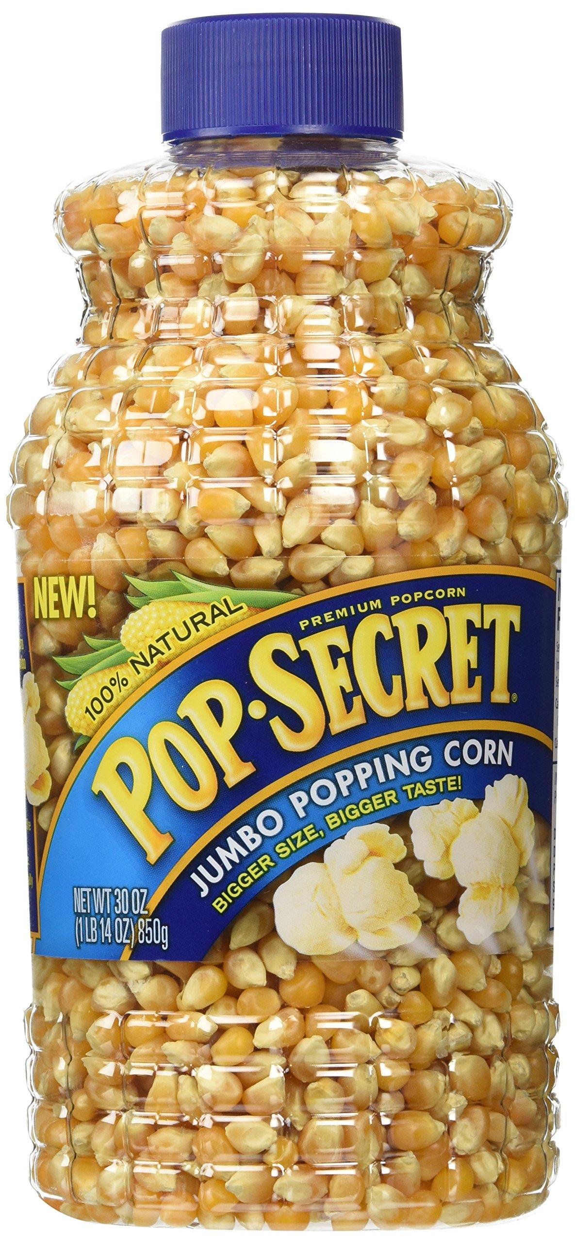 Pop Secret Popcorn 100% Natural Premium Jumbo Popping Corn (2 Pack) Large 30 oz Bottles