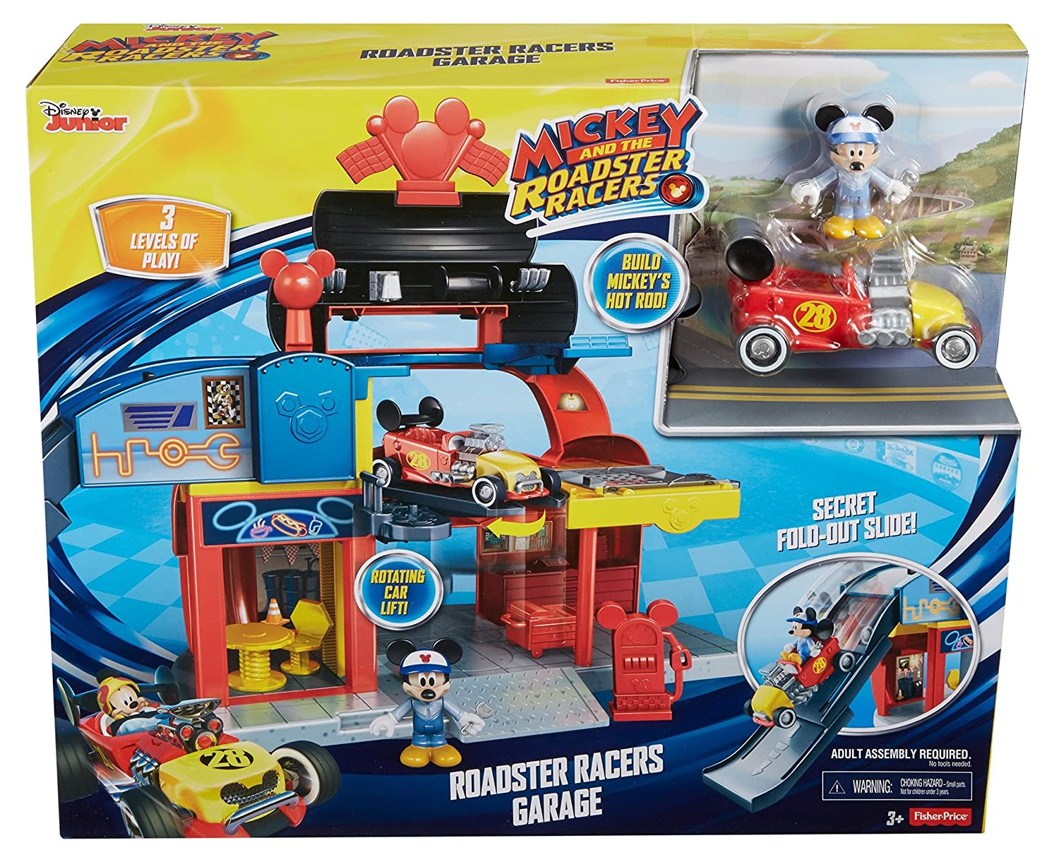 Fisher Price Disney Mickey The Roadster Racers Roadster Racers Garage Playset