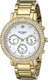 kate spade new york Women's 1YRU0561 Gramercy Grand Watch with 23k Yellow Gold Ion-Plated Bracelet
