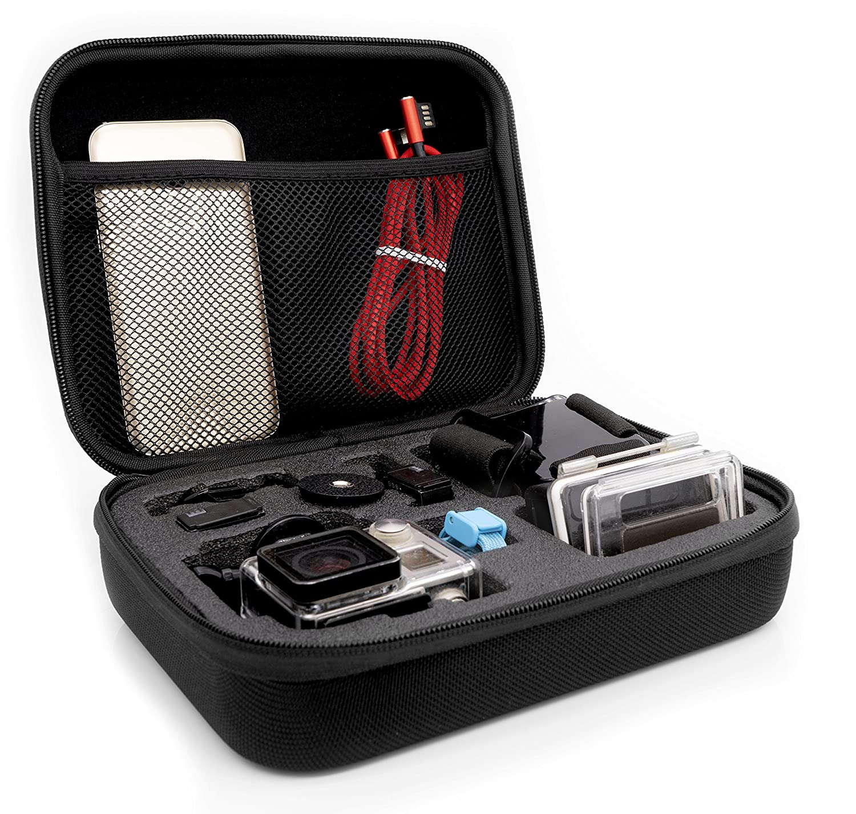 MyGadget Tragetasche [Größe M] Transport Schutz Tasche für Actionkamera & Zubehör Portable Koffer Case für zB GoPro Hero 7 6 5 4 3+ 3 Xiaomi Yi 4K