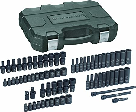 "GearWrench 84902 48 Piece 1//4/"" Dr 6 Pt Impact Metric and SAE Socket Set FREESHIP"