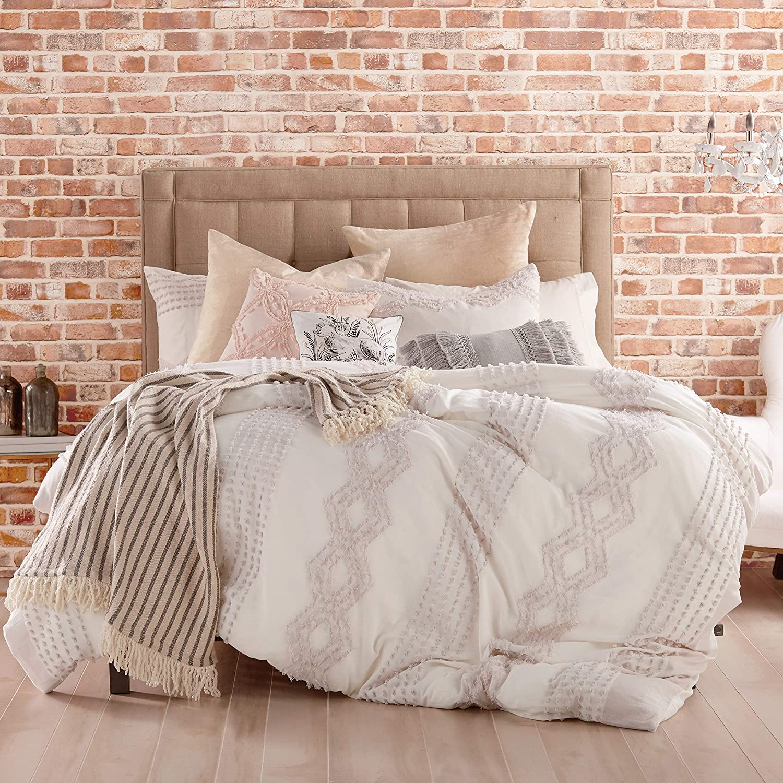 Peri Home Cut Geo 100/% Cotton Duvet Cover