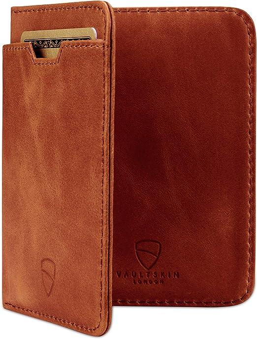 in pelle italiana di alta qualit/à contiene fino a 10 tessere ultra sottile Portacarte Vaultskin CHELSEA con protezione da RFID