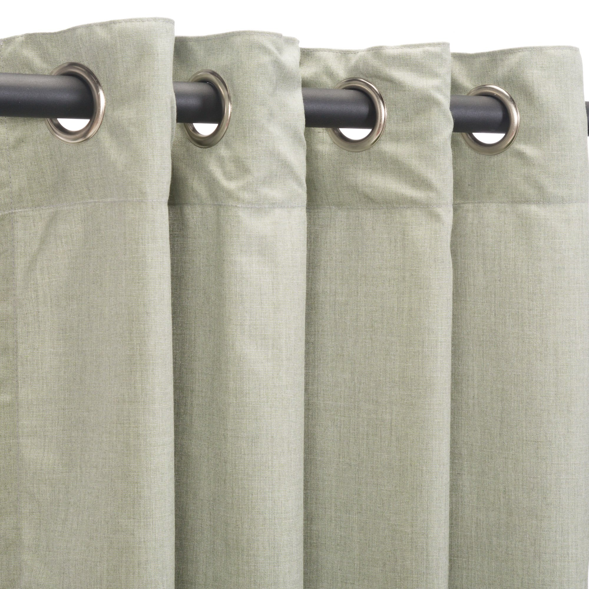 Sunbrella Outdoor Curtain Panel, Nickel Grommet Top, 50 by 96 Inch, Cast Oasis (Available in Multiple Colors and Sizes) Includes Custom Storage Bag; Perfect For a Patio, Porch, Gazebo, or Pergola
