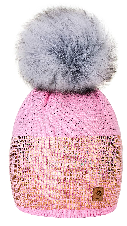 586da5924de 4sold Womens Ladies Winter Hat Knitted Beanie Large Pom Pom Cap Ski  Snowboard Hats Bobble Small ...