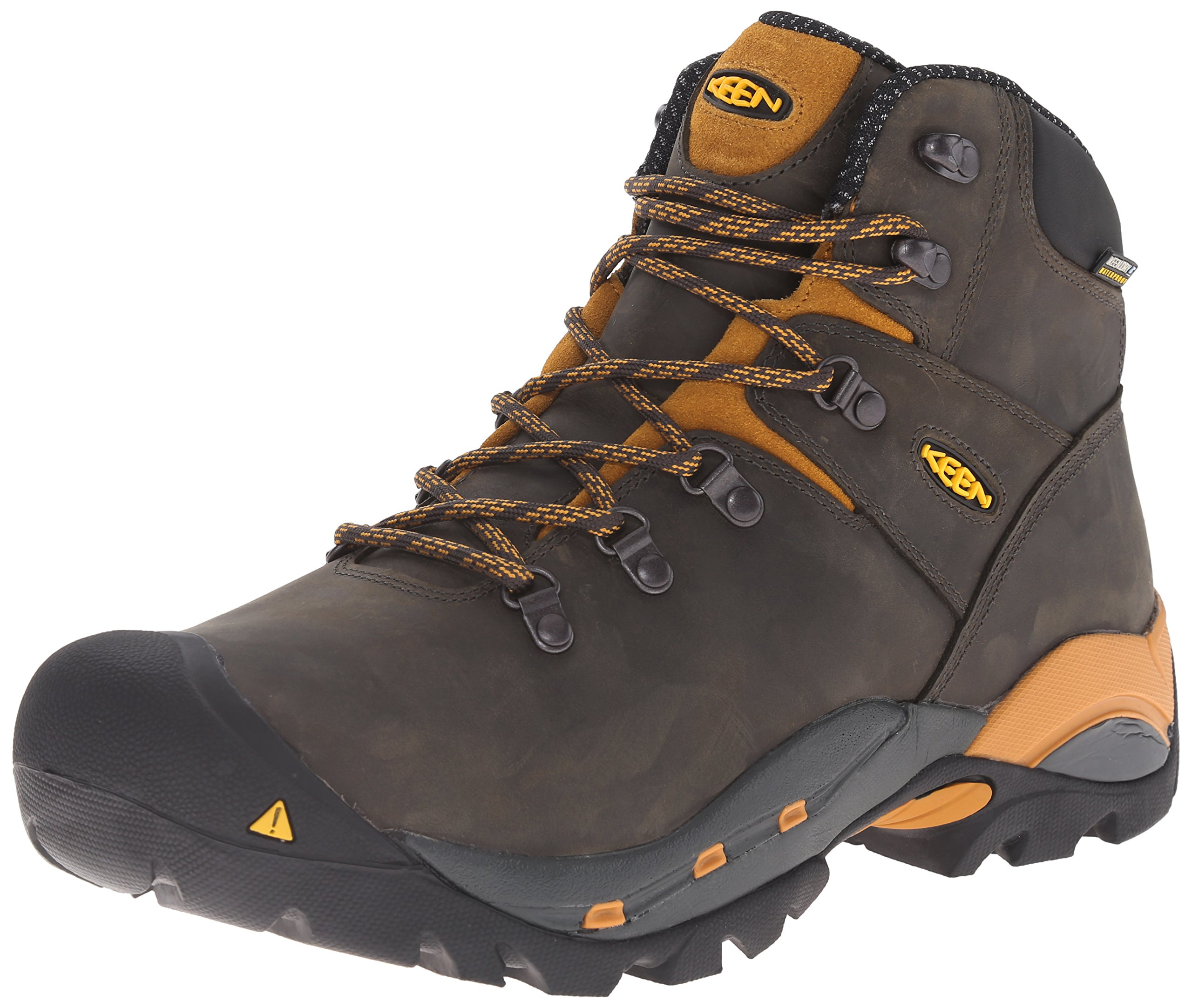 KEEN Utility Men's Cleveland Soft Toe Engineer Boot, Raven/Inca Gold, 7 D US