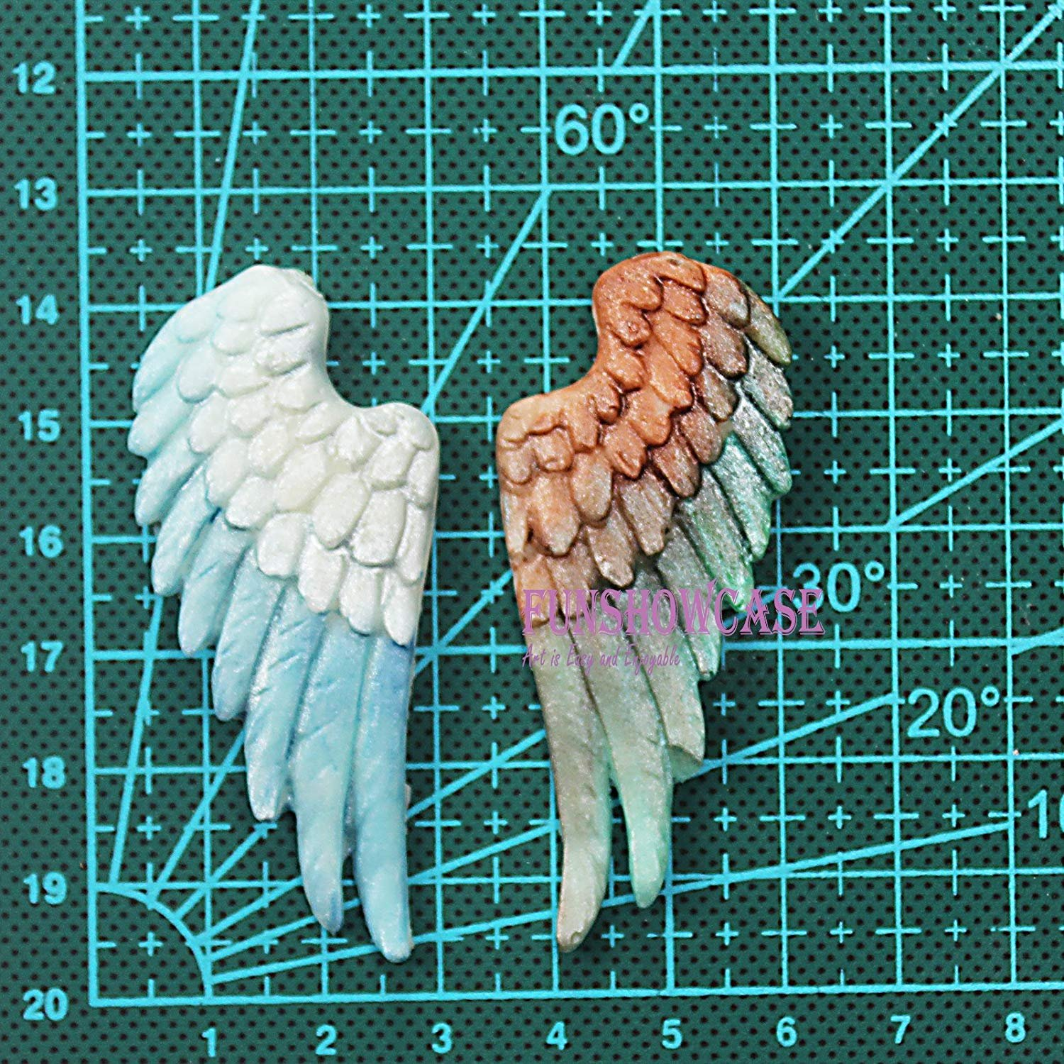 Gum Paste COMIART Cherub Angels Wing Silicone Mould for Cake//Cupcake Decorating,Sugar Craft Chocolate Soap Art Butter Resin,Polymer Clay Fimo PMC Non Stick Sugar Paste Fondant Wax