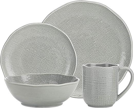 Amazon.com: Godinger - Juego de 4 vajillas de lino, color ...