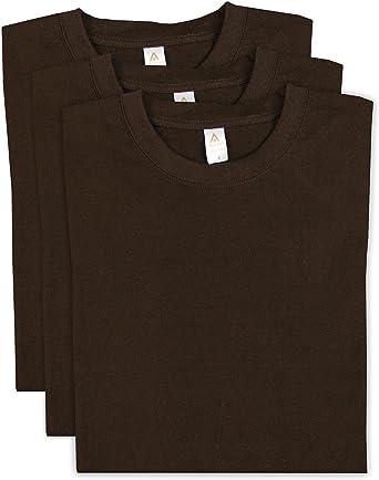S M L XL Pack of 4 Mens TShirt Plain 100/% Thick Cotton Crew Neck t-Shirt top